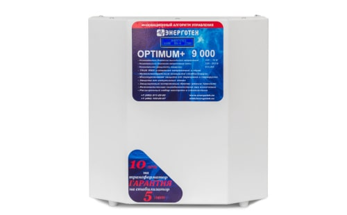 Стабилизатор Энерготех OPTIMUM+ 9000 от ЭлекТрейд